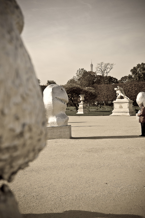 Les Tuileries, a temporary art exhibition