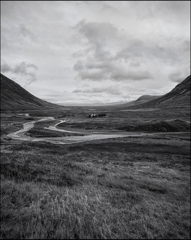 black and white photography landscape  Scotland
