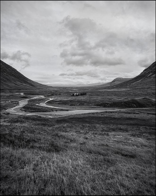 black and white photography landscape  Scotland