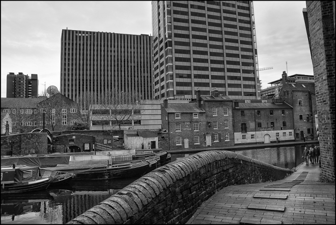 black and white photograph of Birmingham taken in 2008